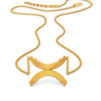 Feminine Folds Gold Necklaces