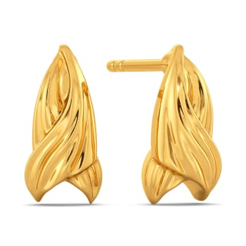 Flowy Goddess Gold Earrings