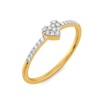 Knotty Hearts Diamond Rings