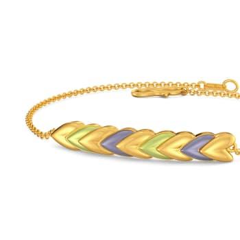 Bouquet of Hearts Gold Bracelets