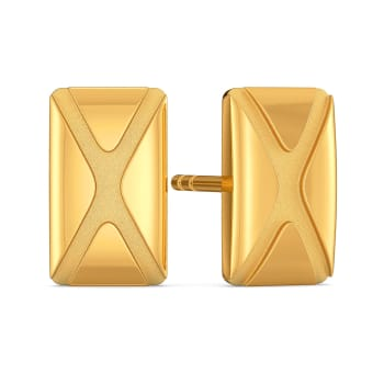 Edgy Essentials Gold Earrings