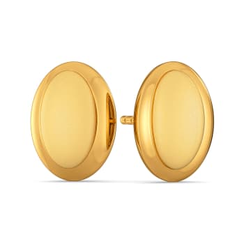 Modestly Mod Gold Earrings