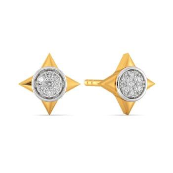 Poised Pair Diamond Earrings