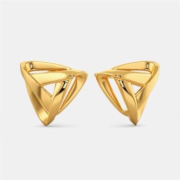 Slinky Sheers Gold Earrings