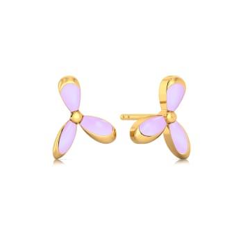 Mauve Lite Gold Earrings