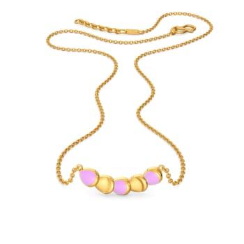 Florid Fancy Gold Necklaces