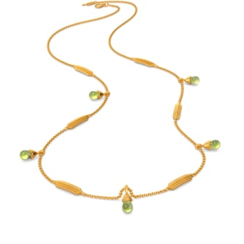 Green Is In Gemstone Necklaces