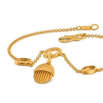 Basket Brooch Gold Bracelets
