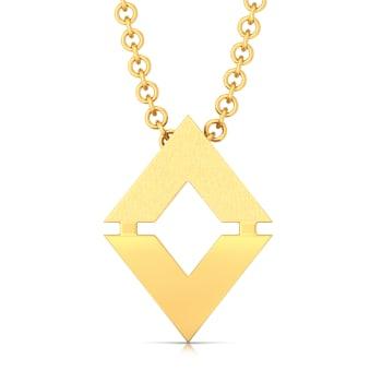 Triangular Tales Gold Pendants
