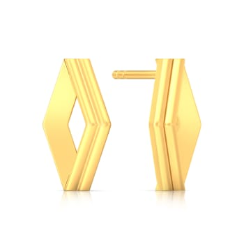 Simplistic Grace Gold Earrings