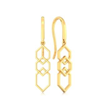 Sixth Sense Gold Earrings