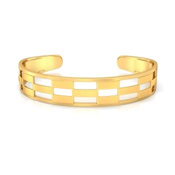 Bar Pattern Gold Bangles
