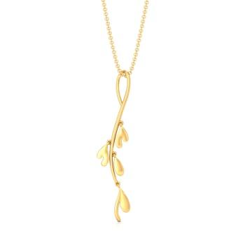 Floral Stylist Gold Pendants