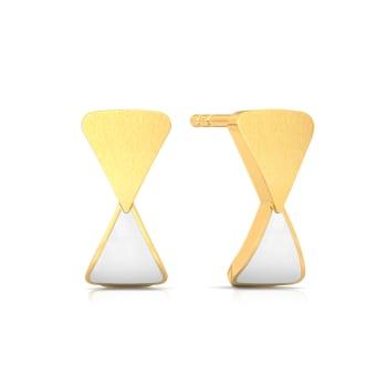 Minimalist Mod Gold Earrings