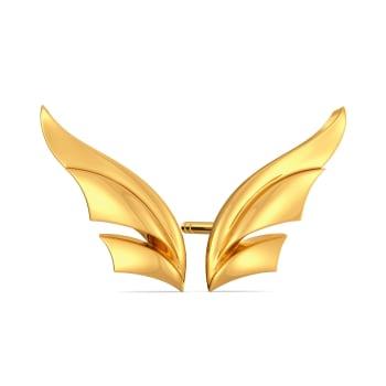 Winged Power Gold Earrings