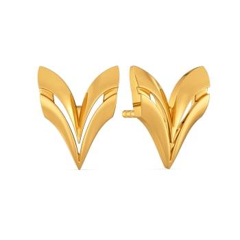 Boldly Feminine Gold Earrings