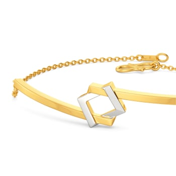 Dual Drama Gold Bracelets