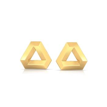 Binary Beauties Gold Earrings