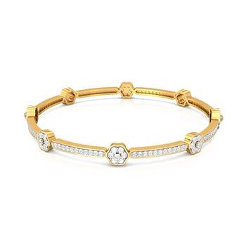 Daisy Chain Diamond Bangles