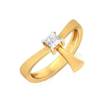 Square Top Gemstone Rings