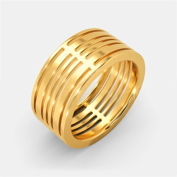 Calm N Casual Gold Rings