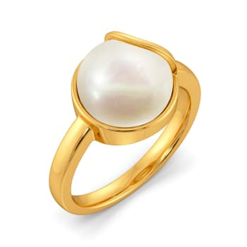 Twirl A Pearl Gemstone Rings