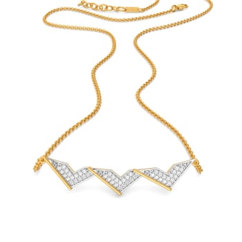 Right Rhomb Diamond Necklaces