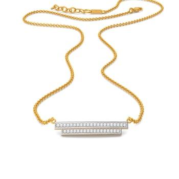 Sleek Pleat Diamond Necklaces