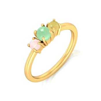 Cassatta Cream  Gemstone Rings