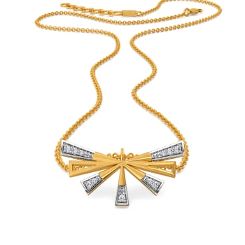Strong Winged  Diamond Necklaces
