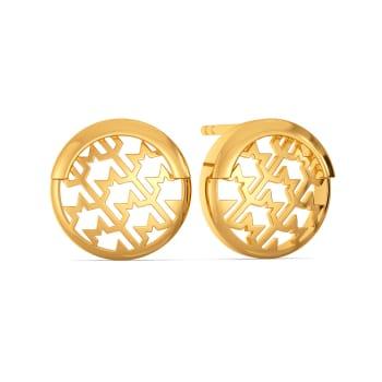 Tweed Staples Gold Earrings
