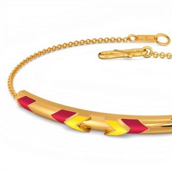 League Intrigue Gold Bracelets