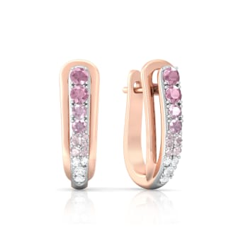 Pink Gouache Diamond Earrings