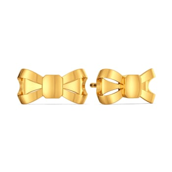 Bows Untangled Gold Earrings