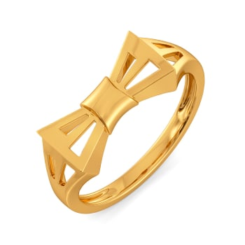 Beat of the Bow Gold Rings