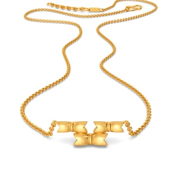 The Rule of Bow Gold Necklaces