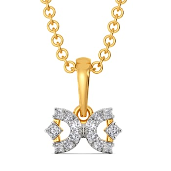 Right to Bow Diamond Pendants