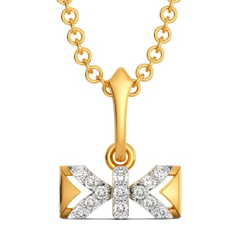 Bow Defied Diamond Pendants