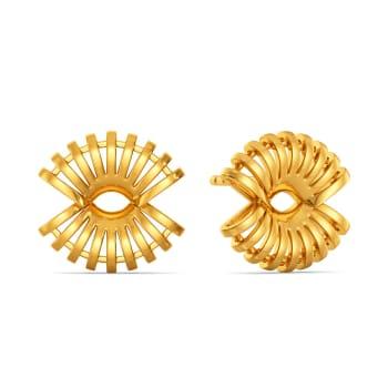 Cool Raffia Gold Earrings