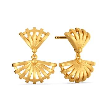 Raffia Blends Gold Earrings