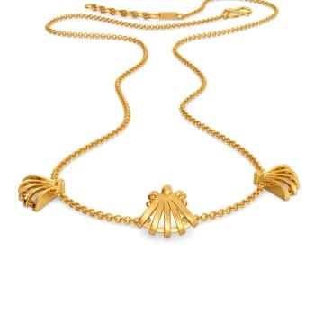 Raffia Blends Gold Necklaces
