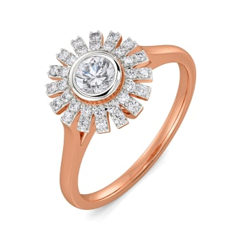 Flower Falls Diamond Rings