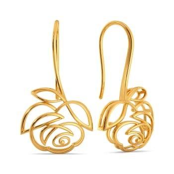 Rose Rules Gold Earrings