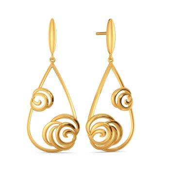 Fierce Flora Gold Earrings