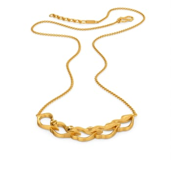 Ripple of Romance Gold Necklaces