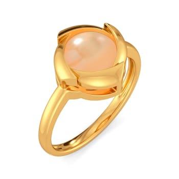 Peach Palette Gemstone Rings