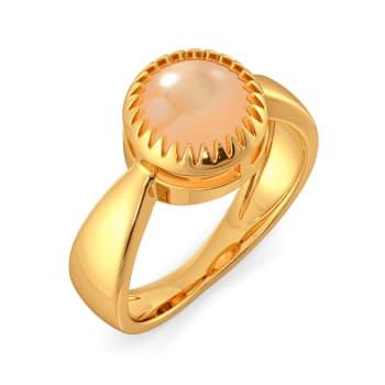 Peach Pop Gemstone Rings