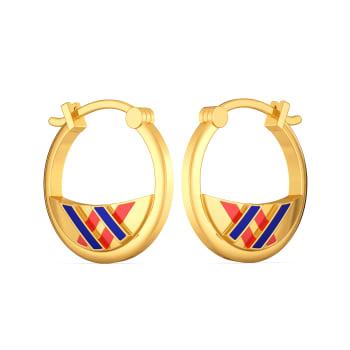 Offbeat Leagues Gold Earrings