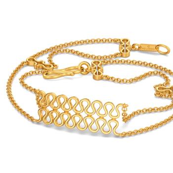 Knit Layers Gold Bracelets