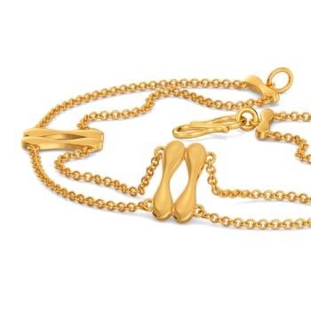 Knit Bit Gold Bracelets